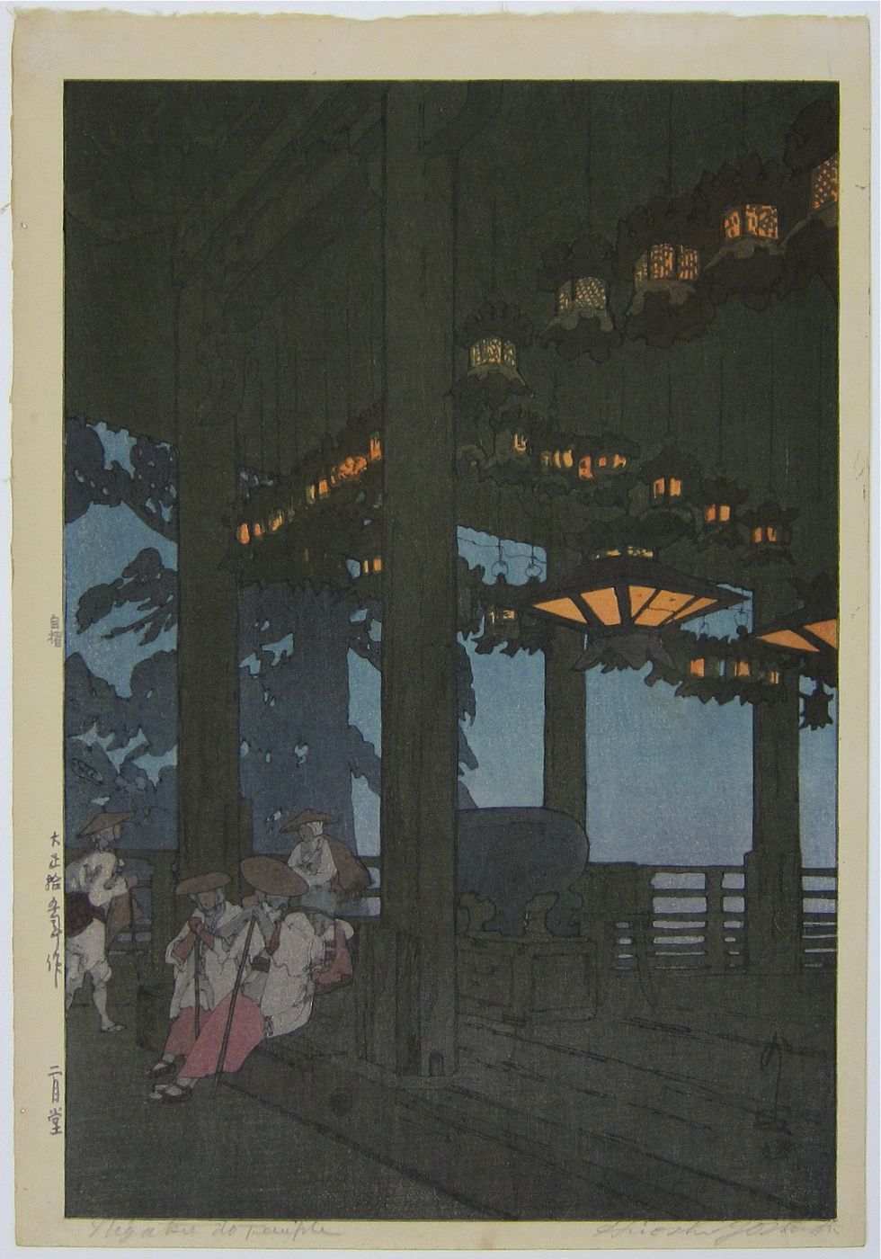 Evening at the Nigatsudo Temple. 2/1926.